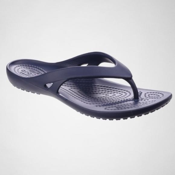 c0d44884d4d8 Crocs Kadee II Flip Flip Flops NAVY Women Sandals